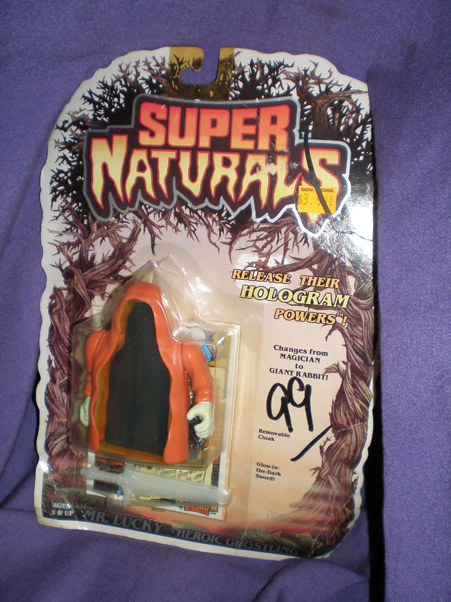 1986 SUPER NATURALS MR. LUCKY HEROIC GHOSTLING GOOD+ CARD