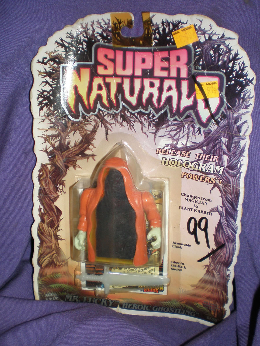 1986 SUPER NATURALS MR. LUCKY HEROIC GHOSTLING GOOD CARD