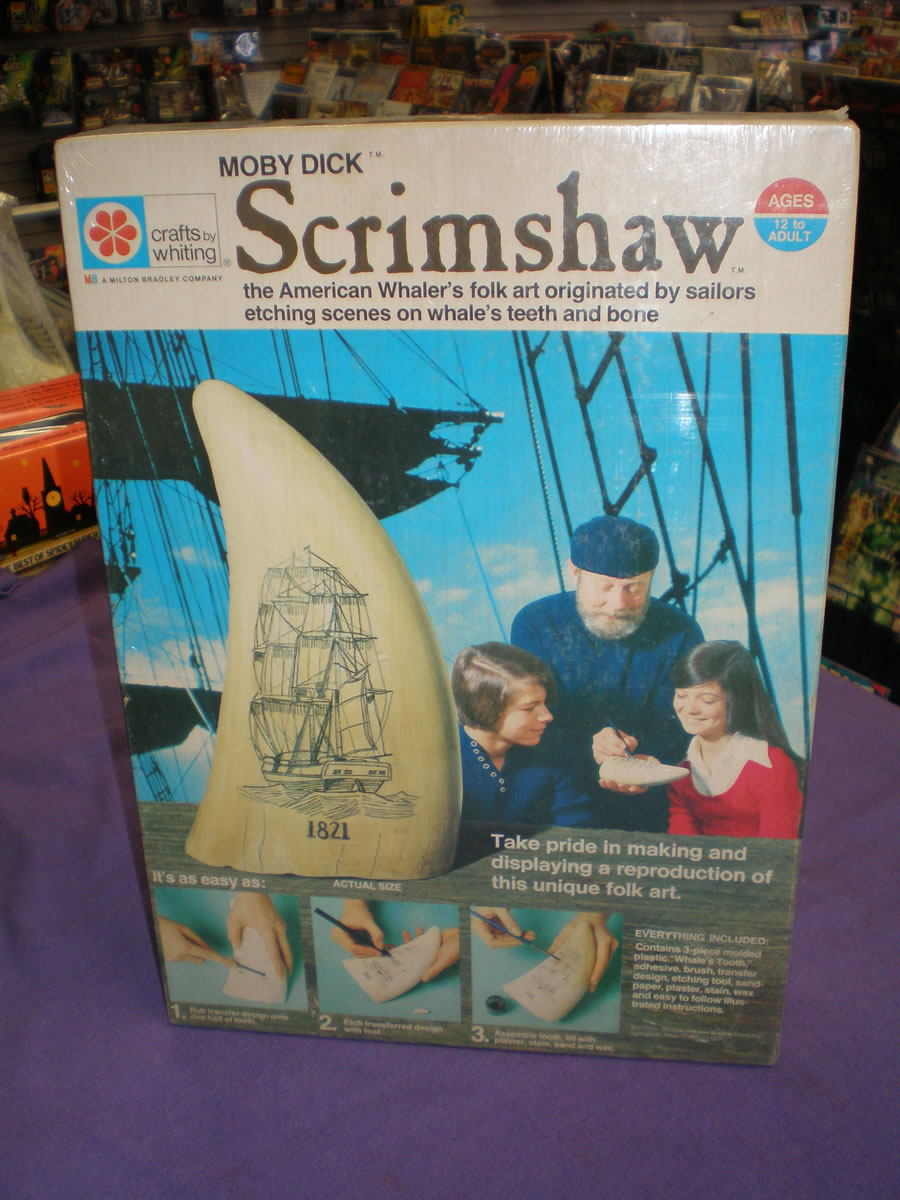 1973 SCRIMSHAW POWDER HORN MOBY DICK KIT