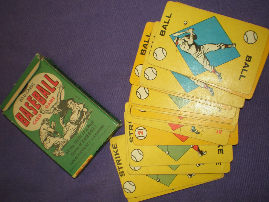 1957 ED-U-CARDS BASEBALL CARD GAME