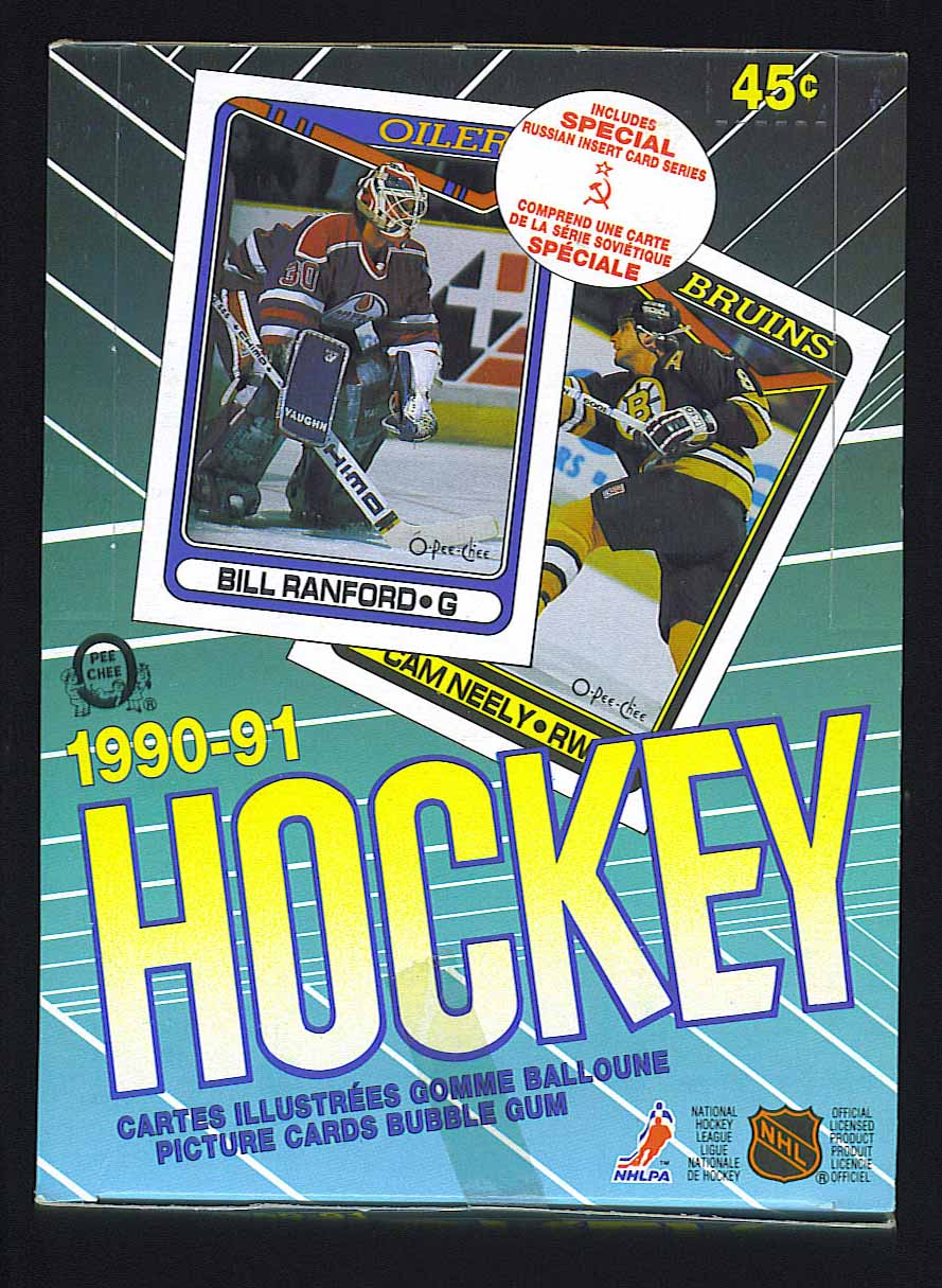 1990-91 O-PEE-CHEE HOCKEY UNOPENED BOX