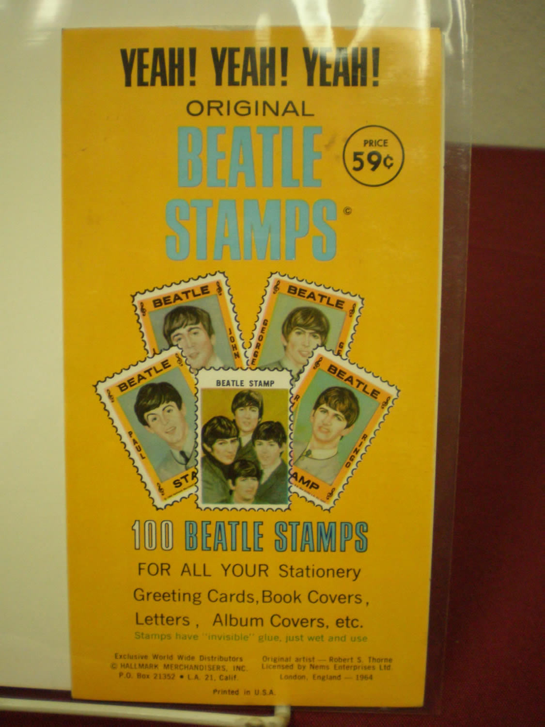 100 BEATLES STAMPS 1964