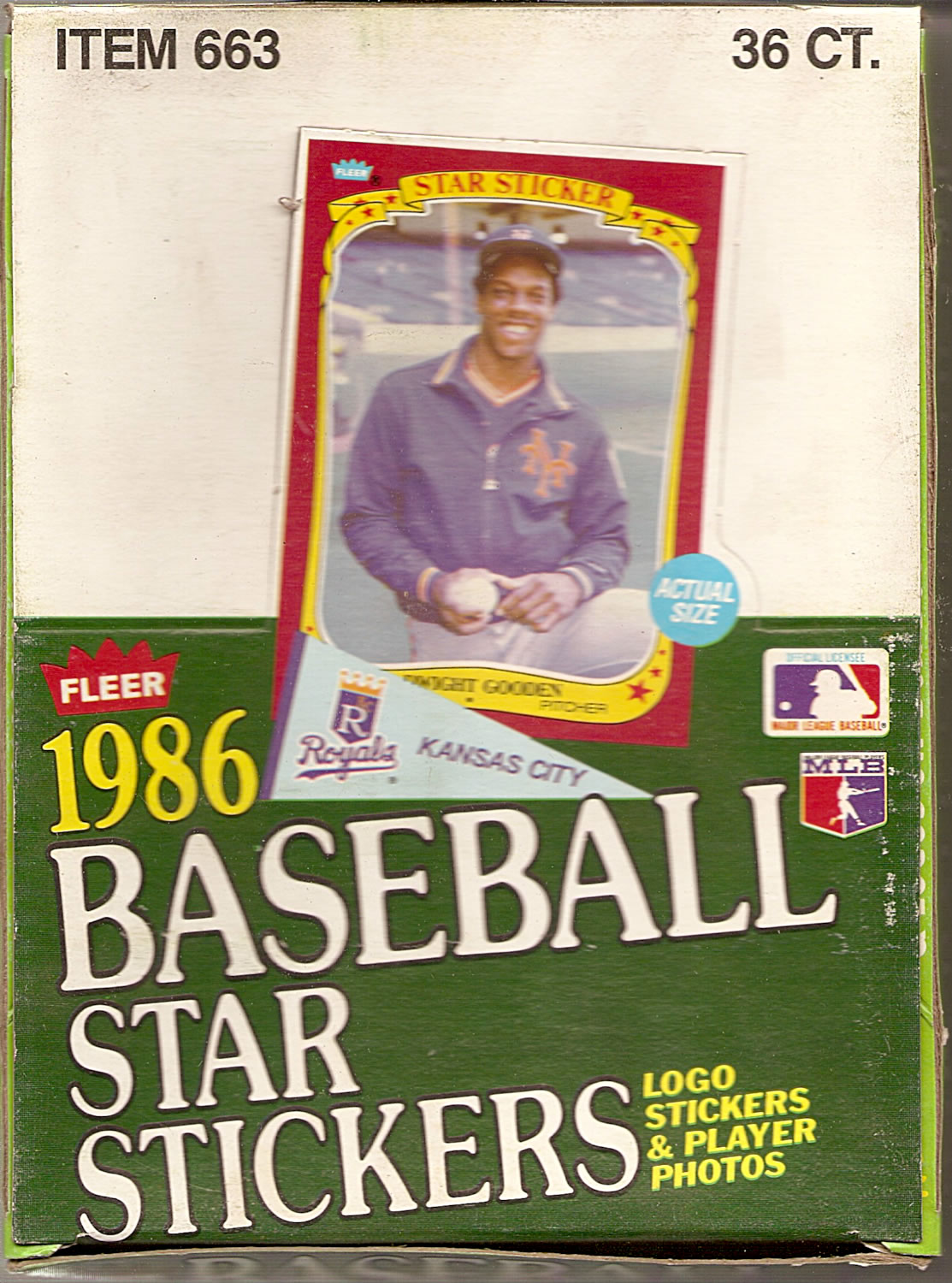 1986 FLEER BASEBALL STAR STICKERS BOX