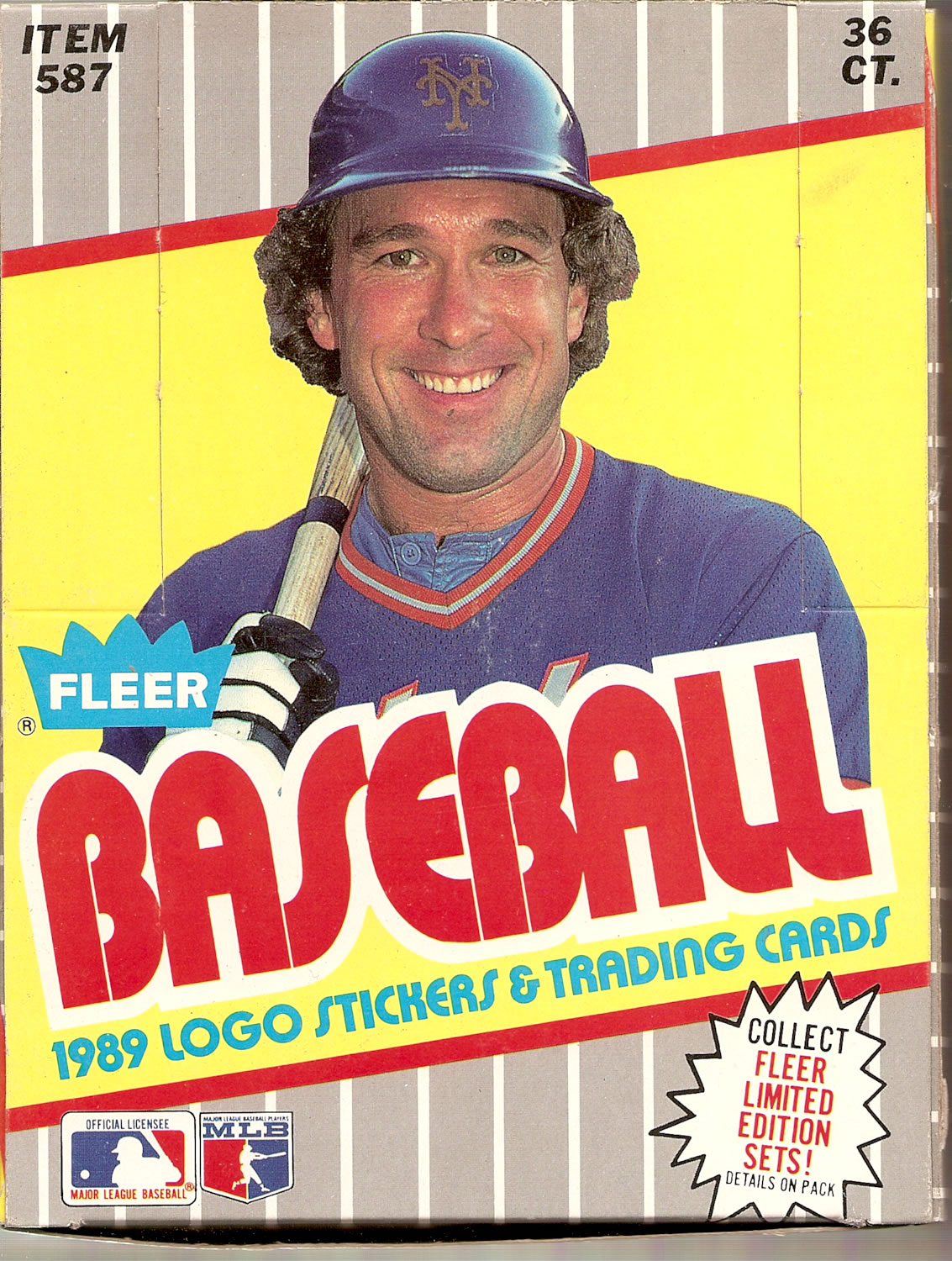 1989 FLEER BASEBALL TRADING CARD BOX