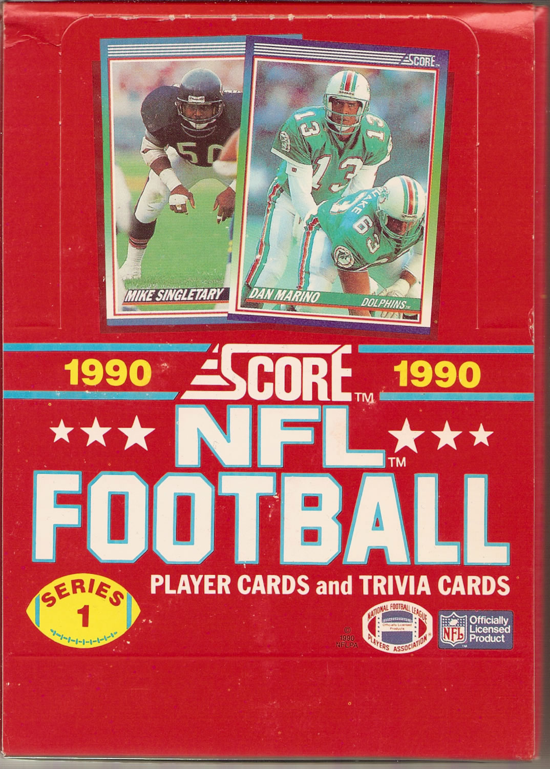 1990 SCORE NFL FOOTBALL BOX